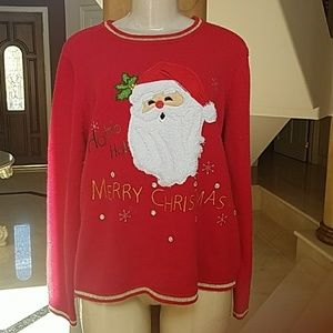 Christmas Santa Claus Red Sweater size 20/2X